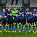 TURIN, ITALY - FEBRUARY 09:  Players of FC Internazionale line up prior to the Coppa Italia semi-final Juventus and FC Internazionale at Allianz Stadium on February 09, 2021 in Turin, Italy. Sporting stadiums around Italy remain under strict restrictions due to the Coronavirus Pandemic as Government social distancing laws prohibit fans inside venues resulting in games being played behind closed doors. (Photo by Claudio Villa - Inter/Inter via Getty Images)